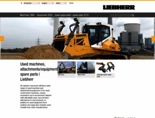 used.liebherr.com screenshot