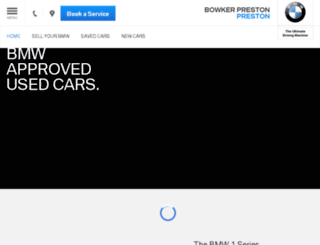 usedcars.bowkerprestonbmw.co.uk screenshot