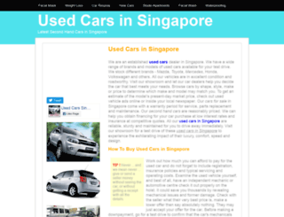 usedcars.insingaporelocal.com screenshot