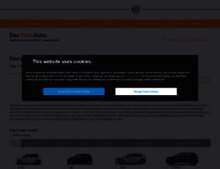 usedcars.volkswagen.co.uk screenshot