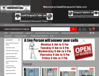 usedchiropractictable.com screenshot