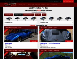 usedcorvettesforsale.com screenshot