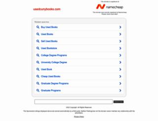 usedcunybooks.com screenshot