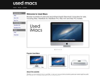 usedmacs.org.uk screenshot