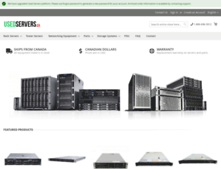usedservers.ca screenshot