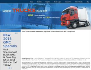 usedtrucksbuyer.com screenshot