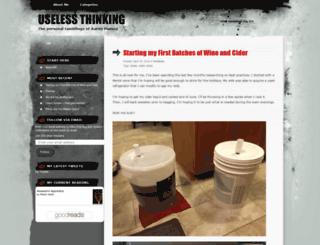 uselessthinking.wordpress.com screenshot