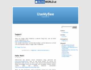 usemybee.blogworld.at screenshot