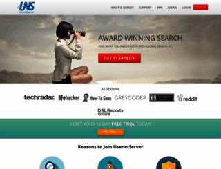 usenetserver.com screenshot