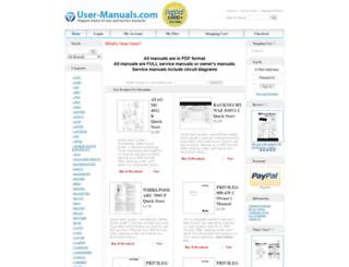 user-manuals.com screenshot
