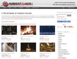 user.ambient-mixer.com screenshot