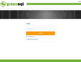usercenter.greensql.com screenshot