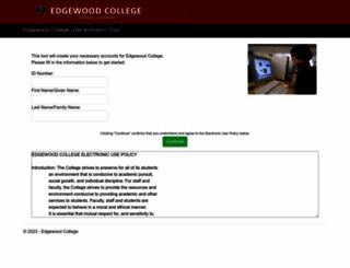 usercreation.edgewood.edu screenshot
