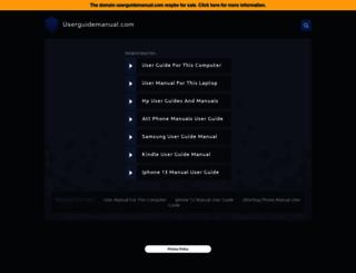 userguidemanual.com screenshot