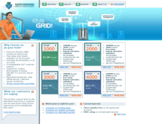 userlink.servergrid.com screenshot