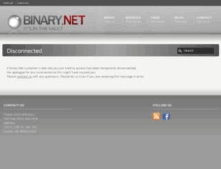 users.binary.net screenshot