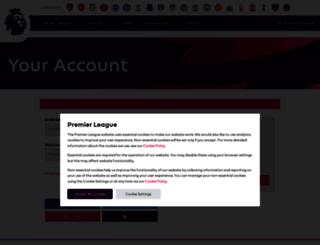 users.premierleague.com screenshot