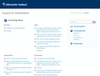uservoice.willyweather.com.au screenshot