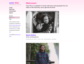 usesthis.com screenshot