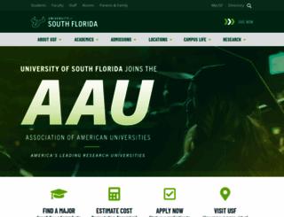 usf.edu screenshot