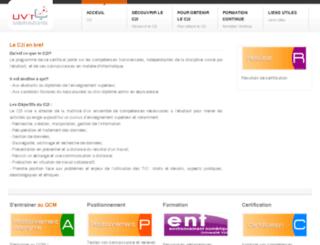 usf.uvt.rnu.tn screenshot