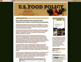 usfoodpolicy.blogspot.com screenshot