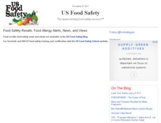usfoodsafety.com screenshot