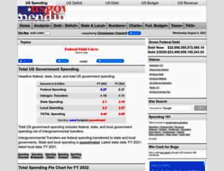 usgovernmentspending.com screenshot