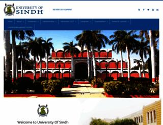 usindh.edu.pk screenshot