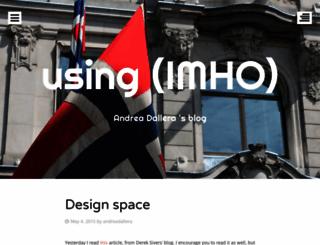 usingimho.wordpress.com screenshot