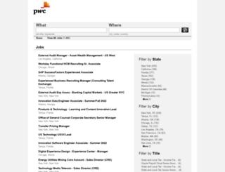 usjobsdirectemployers.pwc.com screenshot