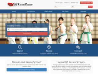 uskarateschools.com screenshot