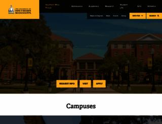 usm.edu screenshot