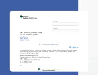 usmail.cognizant.com screenshot