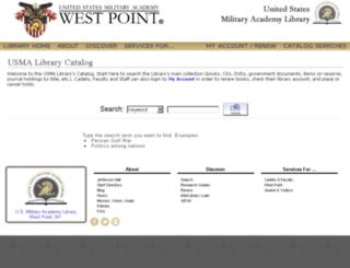 usmalibrary.usma.edu screenshot