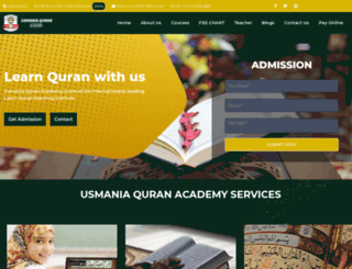 usmaniaquranacademy.com screenshot