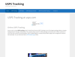 uspstrackings.com screenshot