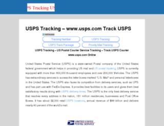 uspstrackingusps.com screenshot