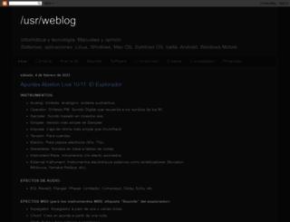 usrweblog.blogspot.com screenshot