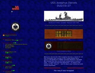 ussjosephusdaniels.com screenshot