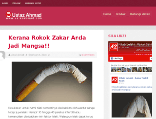 ustazahmad.com screenshot