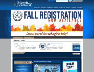 usw.edu screenshot