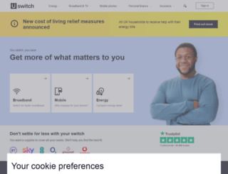 uswitch.com screenshot