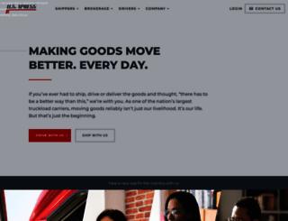 usxpress.com screenshot