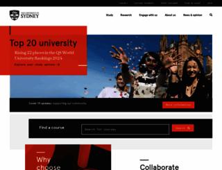 usyd.edu.au screenshot