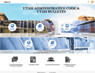 utah.eregulations.us screenshot