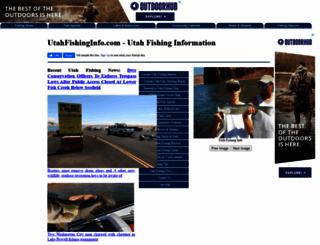 utahfishinginfo.com screenshot