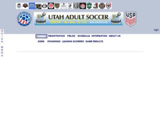 utahsoccer.org screenshot