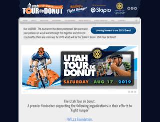 utahtourdedonut.org screenshot