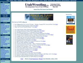 utahwrestling.org screenshot
